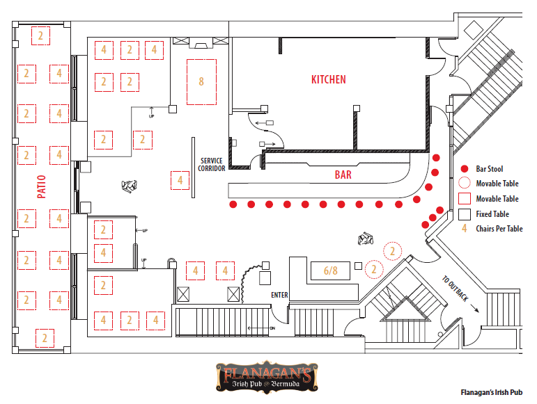Floor Plan Flanagans